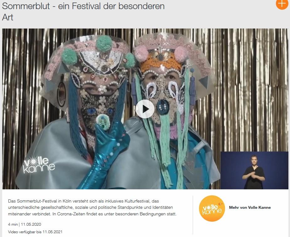 Tanzen Inklusiv im WDR – Sommerblut